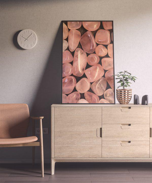 Living Room Rose Quartz Background Textures Modern Poster Preview