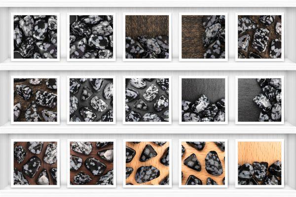 Snowflake Background Textures Samples Showcase Shelfs Preview