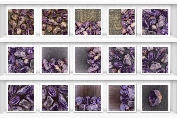 Rutilated Amethyst Background Textures Showcase Shelfs Samples Preview