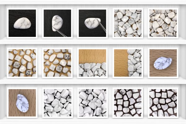 White Turquoise Background Textures Samples Showcase Shelfs