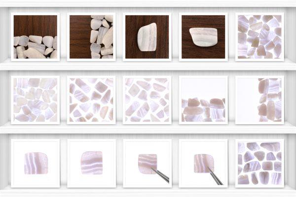Blue Lace Agate Background Textures Samples Showcase Shelfs