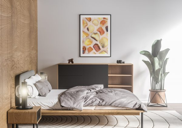 Bedroom Amber Background Textures Modern Poster Preview