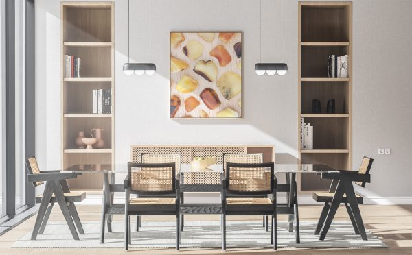 Kitchen & Dining Amber Background Textures Modern Poster Preview
