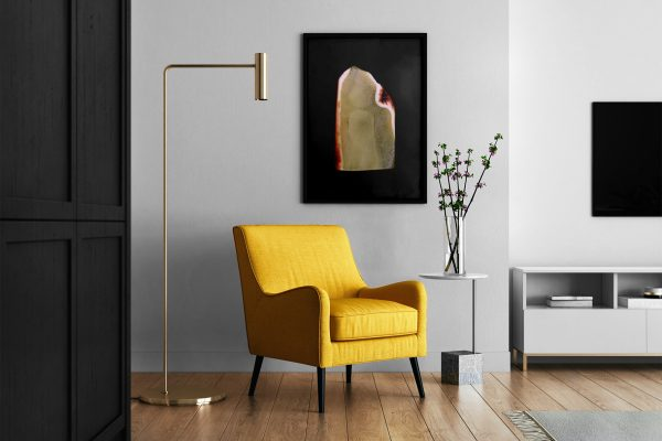 Living Room Amber Background Textures Modern Poster Preview
