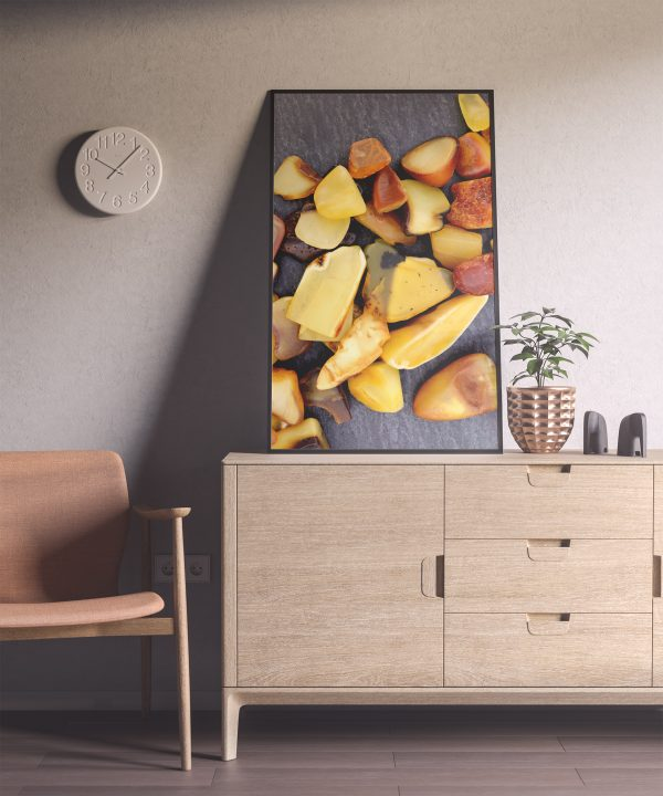 Entryway Amber Background Textures Modern Poster Preview