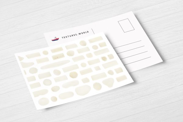 Postcard White Coral Background Textures Modern Poster Preview