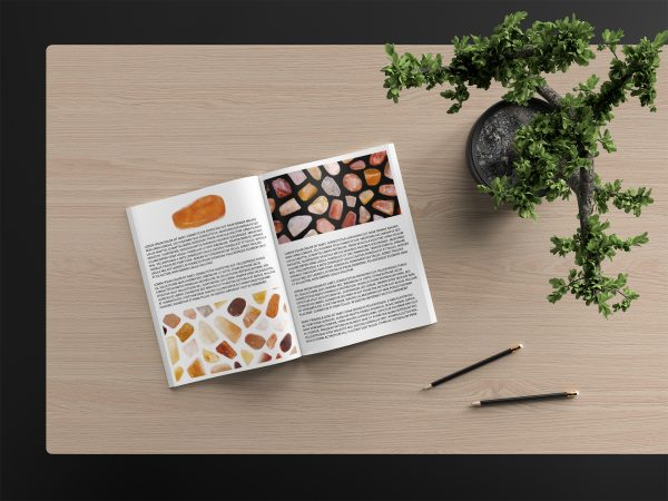 Red Silk Jade Background Textures Modern Magazine Article Illustrations Preview