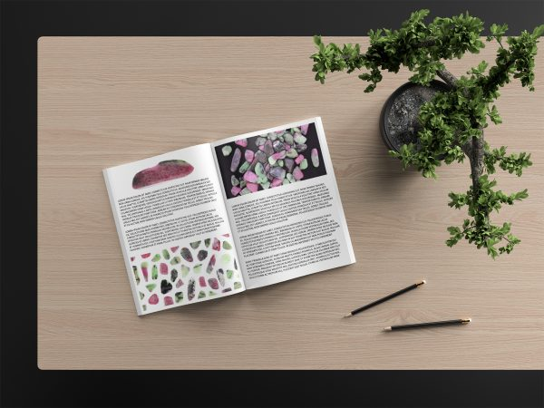 Ruby Zoisite Background Textures Modern Magazine Article Illustrations Preview