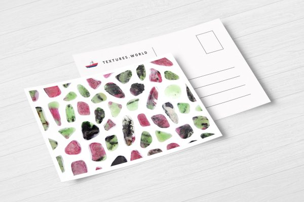 Postcard Ruby Zoisite Background Textures Modern Poster Preview