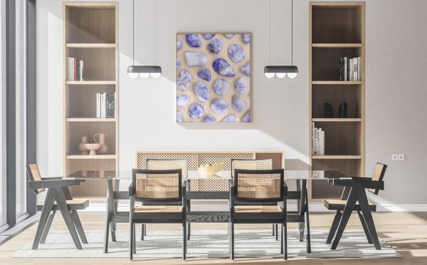 Kitchen & Dining Sodalite Background Textures Modern Poster Preview