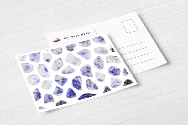 Postcard Sodalite Background Textures Modern Poster Preview