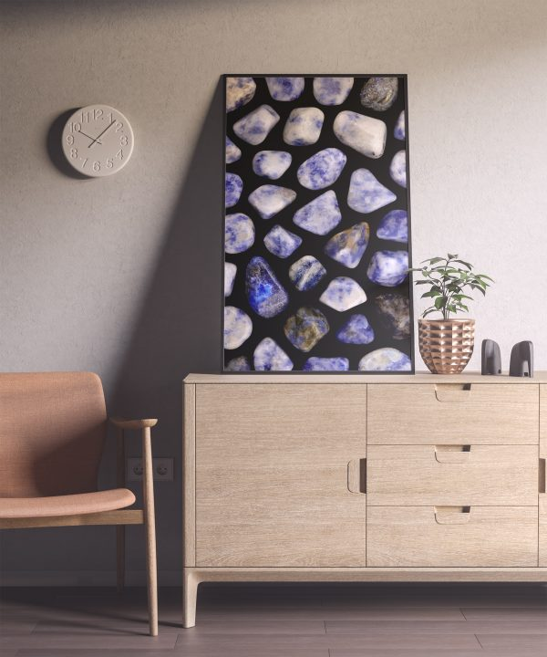 Entryway Sodalite Background Textures Modern Poster Preview