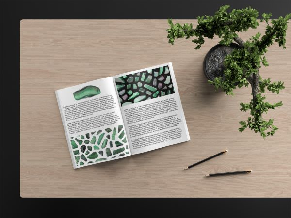 Malachite Background Textures Modern Magazine Article Illustrations Preview
