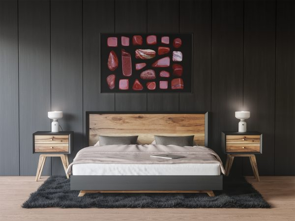 Bedroom Red Jasper Background Textures Modern Poster Preview