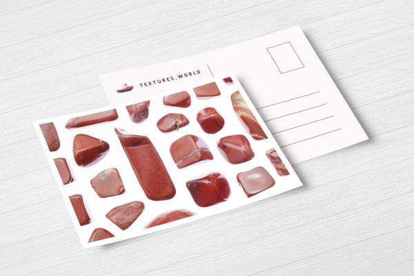 Postcard Red Jasper Background Textures Modern Poster Preview