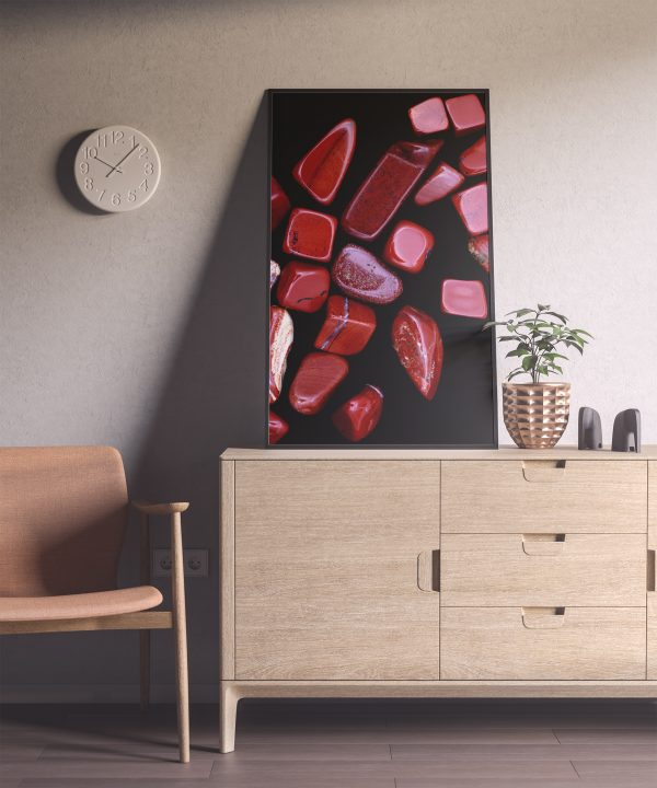 Entryway Red Jasper Background Textures Modern Poster Preview