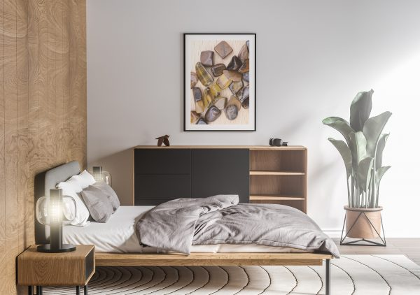 Bedroom Tiger's Eye Background Textures Modern Poster Preview