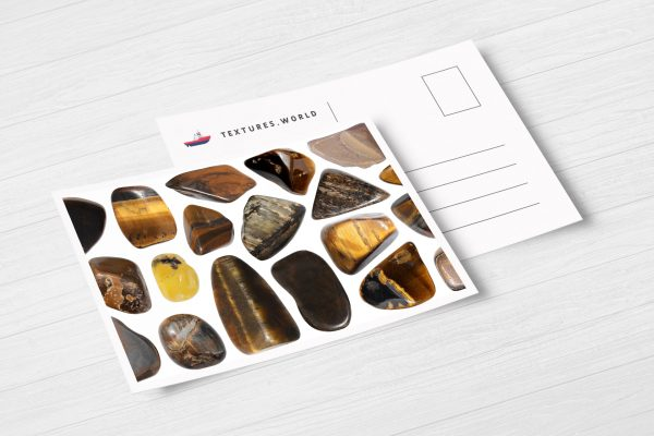 Postcard Tiger's Eye Background Textures Modern Poster Preview