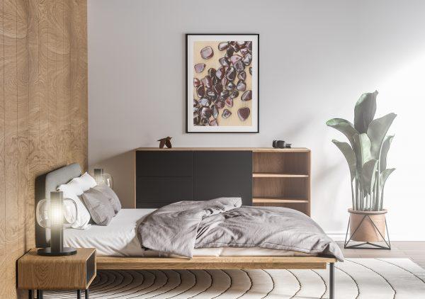 Bedroom Garnet Background Textures Modern Poster Preview