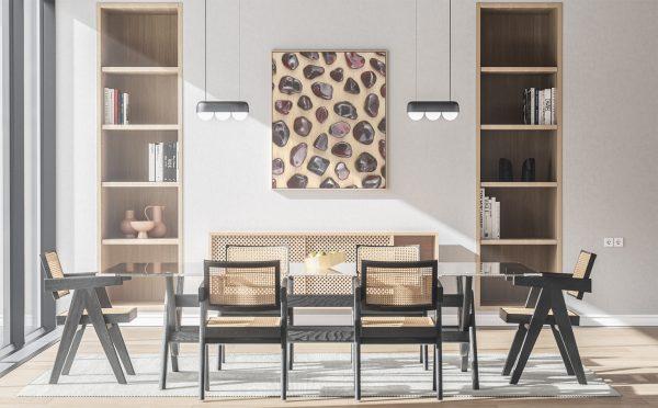 Kitchen & Dining Garnet Background Textures Modern Poster Preview
