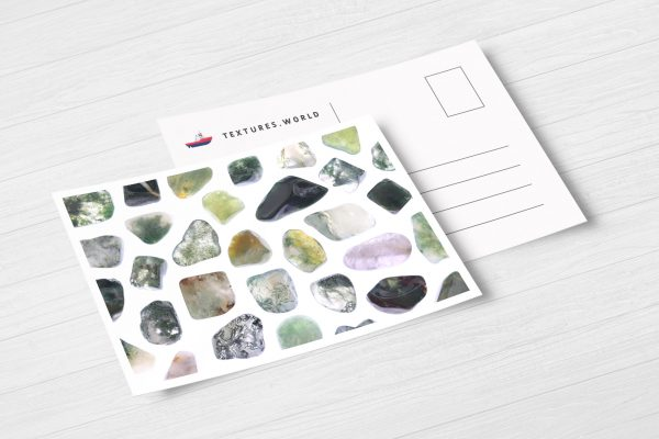 Postcard Moss Agate Background Textures Modern Poster Preview