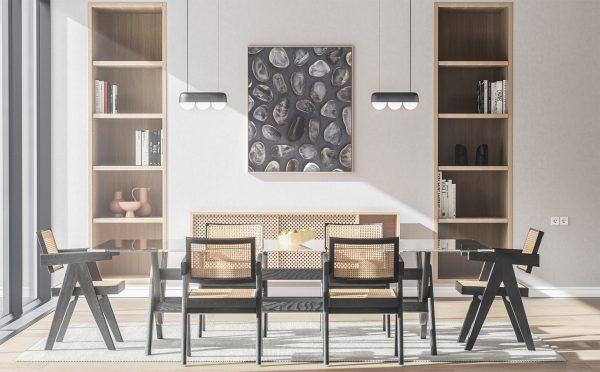 Kitchen & Dining Smoky Quartz Background Textures Modern Poster Preview