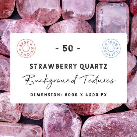 Strawberry Quartz Background Textures Square Cover Preview