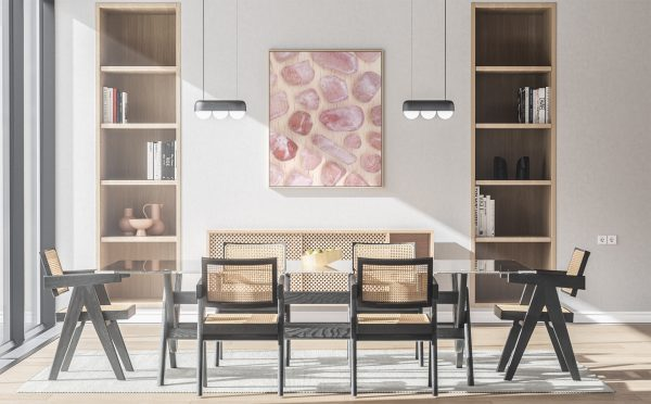 Kitchen & Dining Strawberry Quartz Background Textures Modern Poster Preview