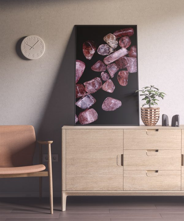 Entryway Strawberry Quartz Background Textures Modern Poster Preview
