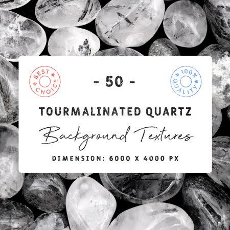 Tourmalinated Quartz Background Textures Square Cover Preview