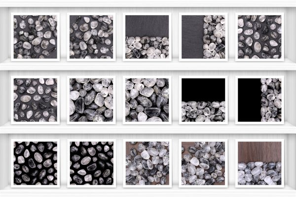 Tourmalinated Quartz Background Textures Showcase Shelves Samples Preview
