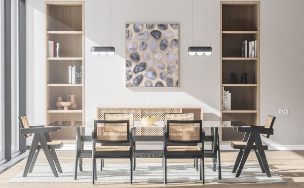 Kitchen & Dining Tourmalinated Quartz Background Textures Modern Poster Preview
