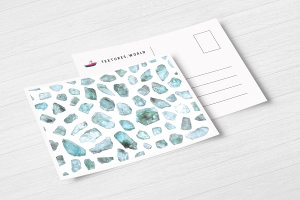 Postcard Apatite Background Textures Modern Poster Preview