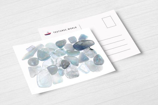 Postcard Aquamarine Background Textures Modern Poster Preview