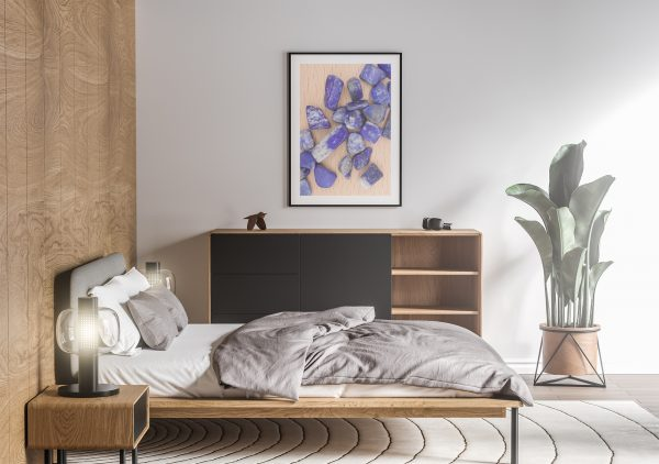 Bedroom Lapis Lazuli Background Textures Modern Poster Preview