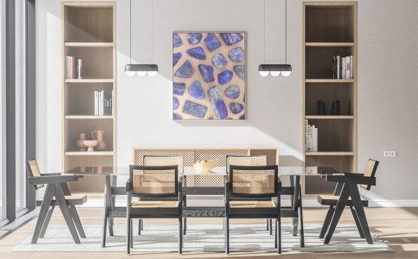 Kitchen & Dining Lapis Lazuli Background Textures Modern Poster Preview