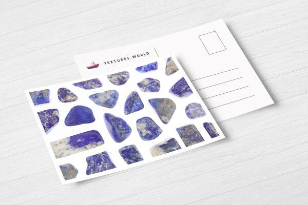 Postcard Lapis Lazuli Background Textures Modern Poster Preview