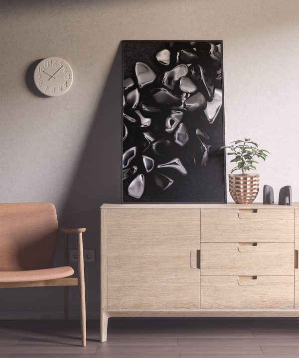 Entryway Obsidian Background Textures Modern Poster Preview