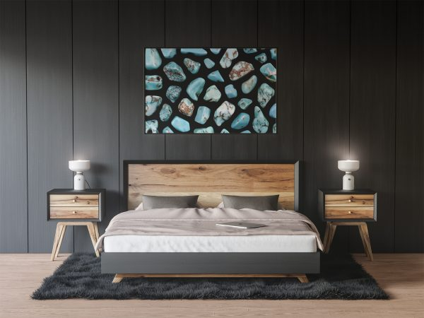 Bedroom Turquoise Background Textures Modern Poster Preview