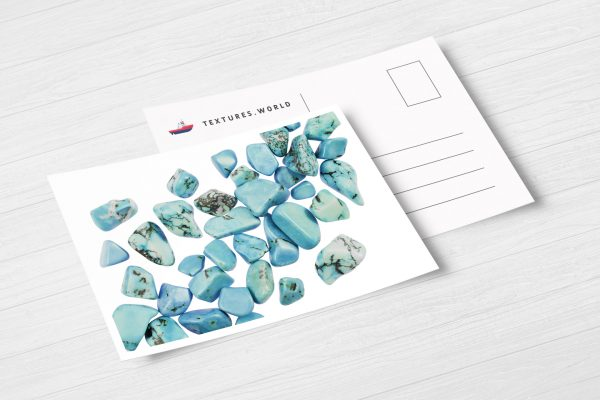 Postcard Turquoise Background Textures Modern Poster Preview