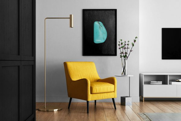 Living Room Turquoise Background Textures Modern Poster Preview