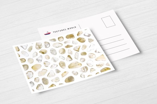Postcard Citrine Background Textures Modern Poster Preview