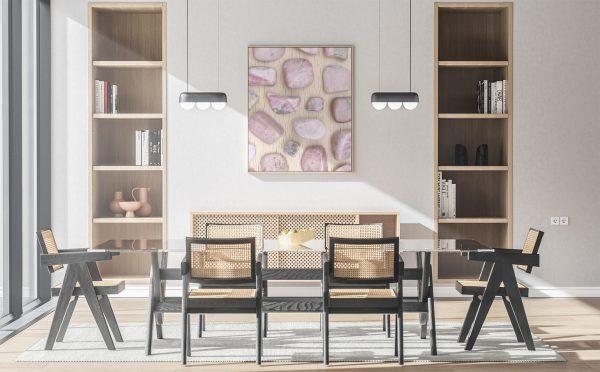 Kitchen & Dining Rhodochrosite Background Textures Modern Poster Preview