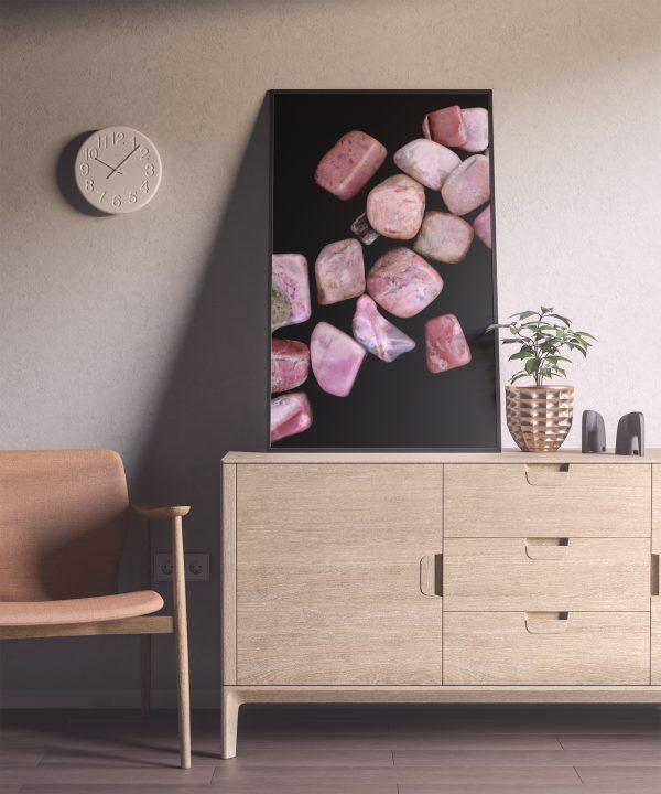 Entryway Rhodochrosite Background Textures Modern Poster Preview