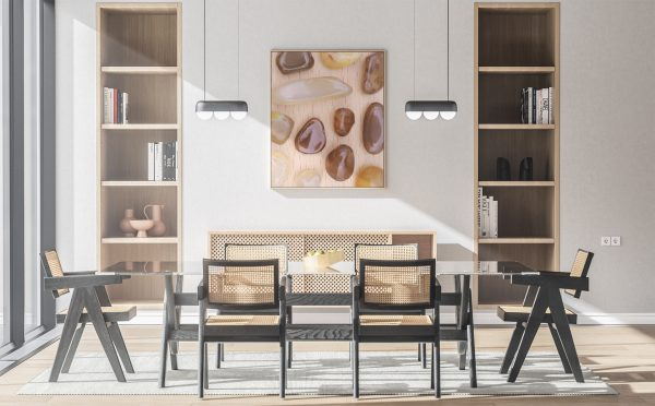 Kitchen & Dining Yellow Agate Background Textures Modern Poster Preview