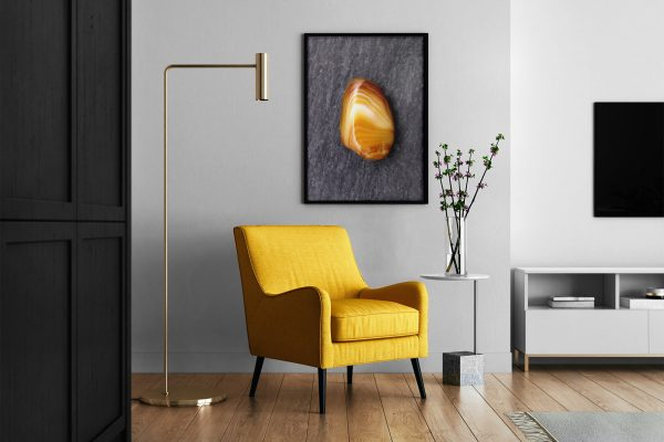 Living Room Yellow Agate Background Textures Modern Poster Preview
