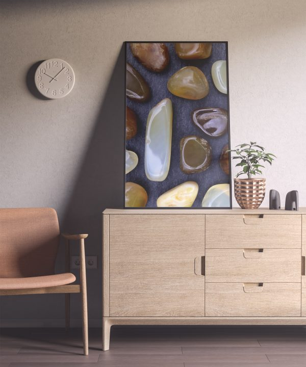 Entryway Yellow Agate Background Textures Modern Poster Preview