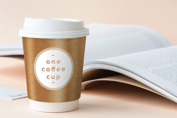 Coffee Cup Design Bronze Background Textures Preview