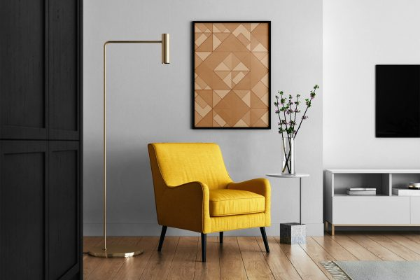 Living Room Bronze Background Textures Modern Poster Preview