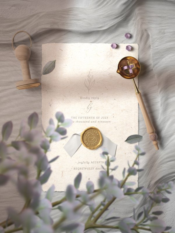 Decorative Paper Background Textures Wax Seal Invitation Card Preview